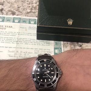 Rolex Submariner 5513 With Box And Papers Serviced